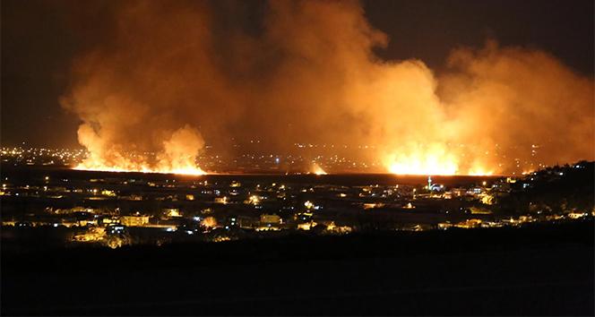 Kaş'ta sazlık yangını