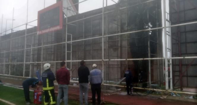 Antalyaspor Hasan Subaşı tesisleri sahasındaki yangın korkuttu