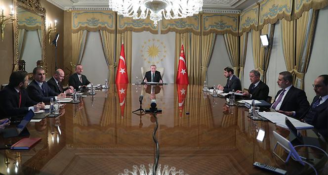 Cumhurbaşkanı Erdoğan Avrupa liderleriyle telekonferansla görüştü