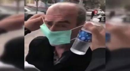 İstanbulda yaşlı adama zorla maske takan kişi gözaltına alındı