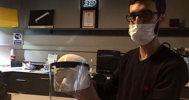 COVİD-19 Pandemisi ile mücadelede kişisel koruyucu ekipmanı 'Yüz Siperi' seri üretimine başlandı