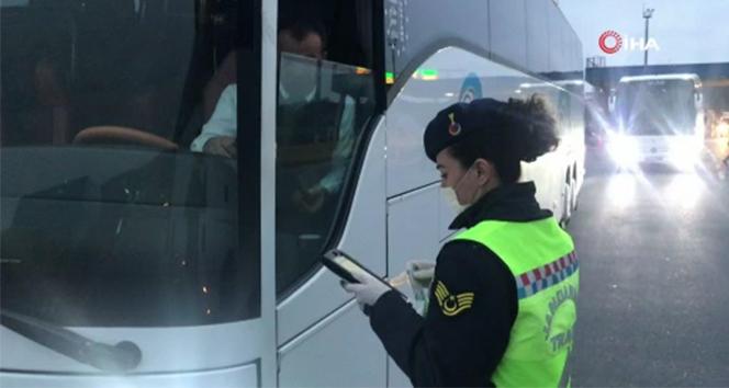 Jandarmadan şehirlerarası otobüslere denetim