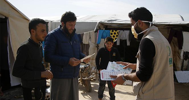 Suriye'de korona virüse karşı bilgilendirme çalışması