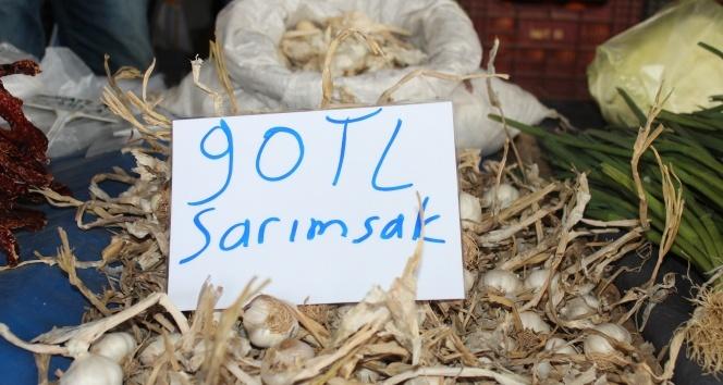 Sarımsağın kilosu 90 liraya kadar yükseldi