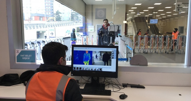 Marmaray istasyonlarında korona virüse karşı termal kamera dönemi