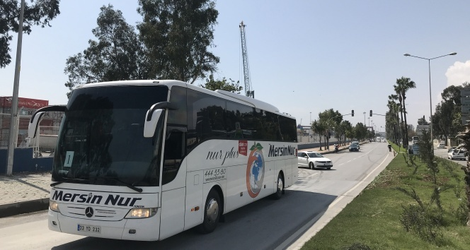 KKTC'den gelen 141 vatandaş karantinaya alınmak üzere Karaman'a gönderildi