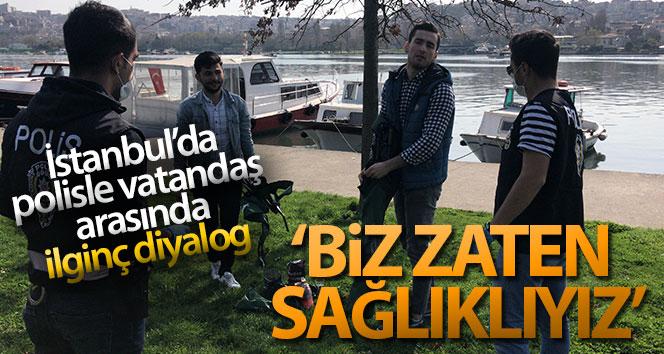 İstanbul'da polisle vatandaş arasındaki ilginç diyaloglar kamerada