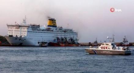 Yunan bayraklı gemi karantinaya alındı