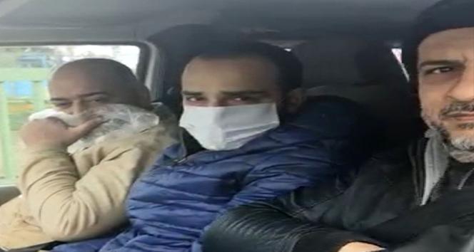 Maske takmadı, polisi görünce yüzünü poşetle kapattı