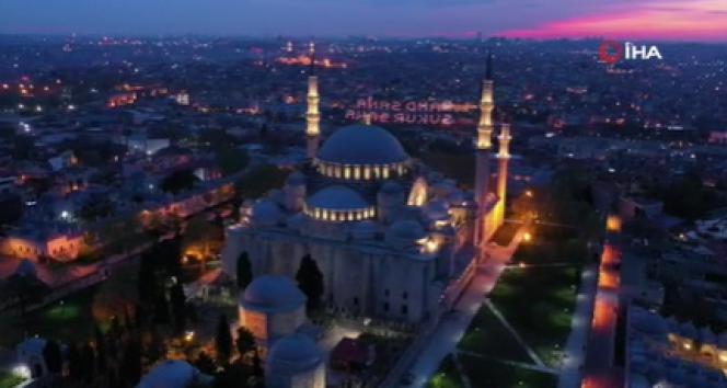 Süleymaniye Camisi'nde gün batımı hayran bıraktı