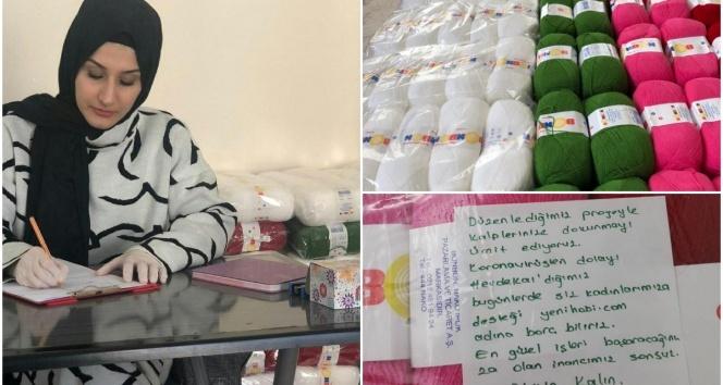 #evdekal'an kadınlara kadın girişimciden örgü desteği