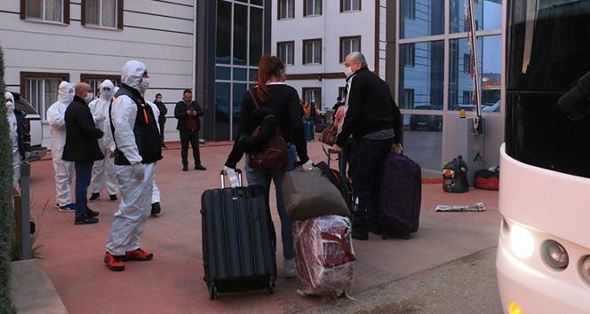Birleşik Arap Emirlikleri'nden gelen vatandaşlar öğrenci yurduna yerleştirildi