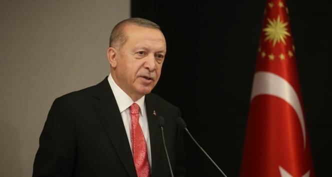 Cumhurbaşkanı Erdoğan, KKTC Başbakanı Tatar ile görüşüyor