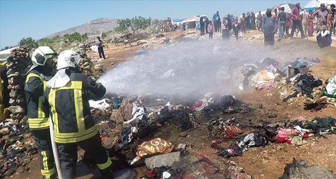 Suriye'de mülteci kampında yangın: 1 ölü, 2 yaralı