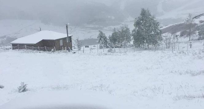 Ordu'da mayısta kar sürprizi