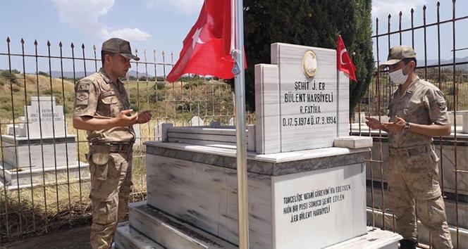 Jandarma Genel Komutanlığından şehit kabirlerine bakım