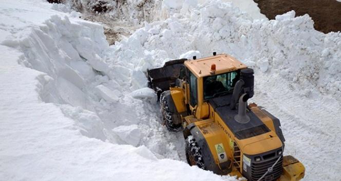 Bayburt'ta karla mücadele çalışmaları sürüyor