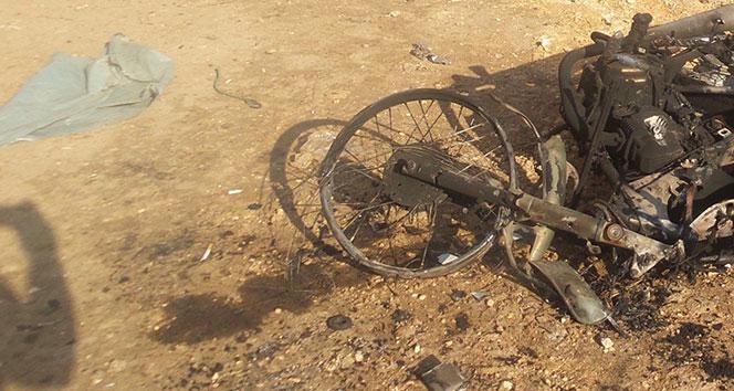 Azez ve Afrin arasındaki yolda bomba yüklü motosiklet patladı
