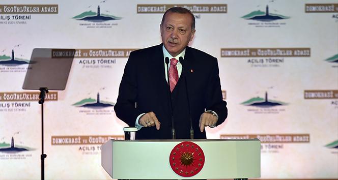 Demokrasi ve Özgürlükler Adası, Cumhurbaşkanı Erdoğan'ın katılımıyla açıldı