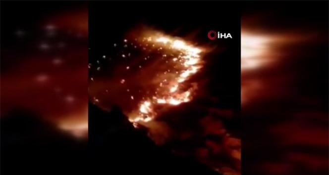 İran'ın Zagros Dağları'nda çıkan orman yangını günlerdir söndürülemedi