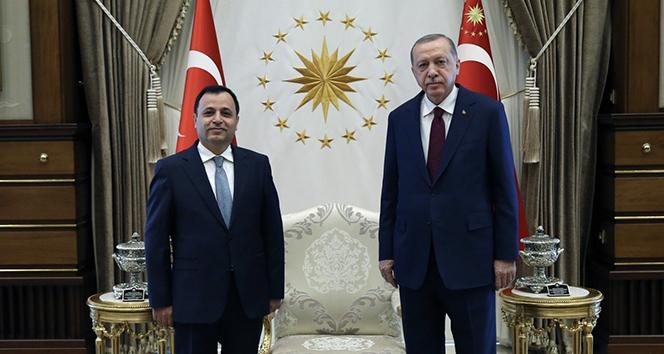 Cumhurbaşkanı Erdoğan, Anayasa Mahkemesi Başkanı Arslan'ı kabul etti