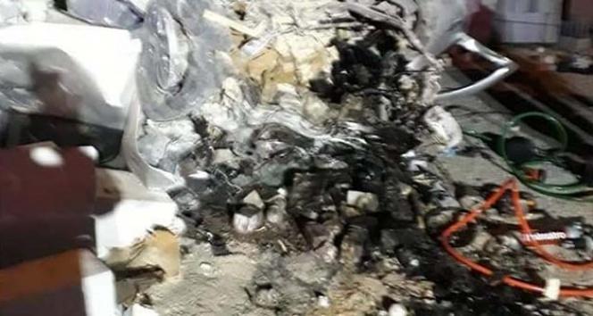 Kontrolden çıkan otomobil mermer fabrikasına girdi: 1 ölü, 3 yaralı
