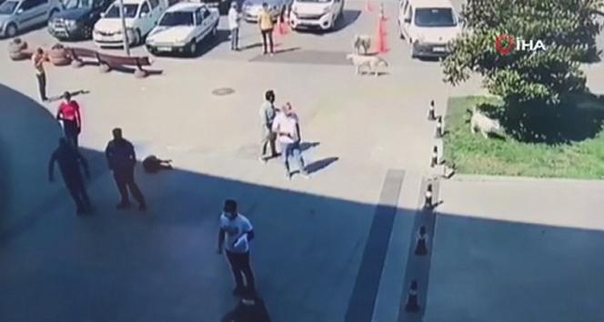 Depremin yaşattığı panik güvenlik kamerası tarafından böyle görüntülendi