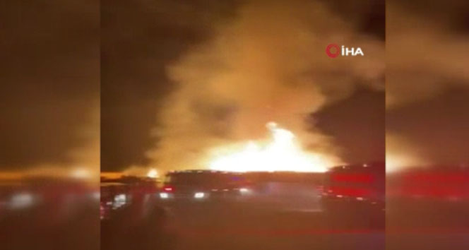 Kuveyt'te limanda yangın