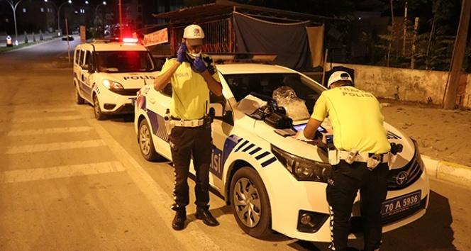 Karaman'da polisten asayiş ve trafik uygulaması