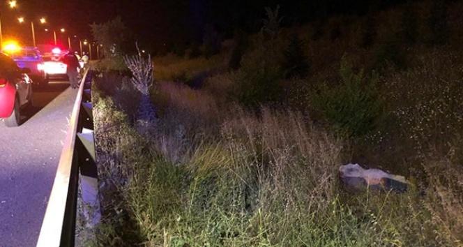 Başkent'te motosikletiyle yoldan çıkan sürücü hayatını kaybetti