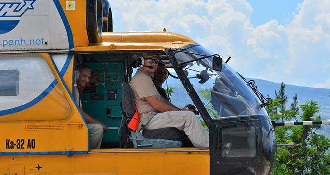 Rus yapımı yangın söndürme helikopteri göreve hazır