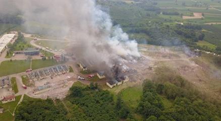 Sakaryada havai fişek fabrikasında patlama