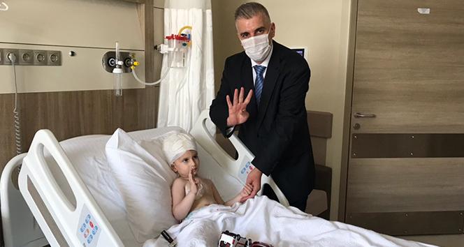 Cumhurbaşkanı Erdoğan'ın hastane açılışında sohbet ettiği çocuğun babası konuştu