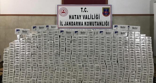Hatay'da 22 bin 440 paket gümrük kaçağı sigara ele geçirildi