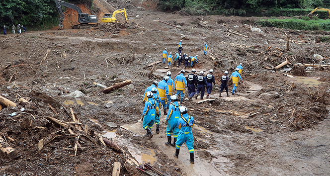 Japonya'daki sel felaketinde ölü sayısı 63'e yükseldi, 16 kişi kayıp