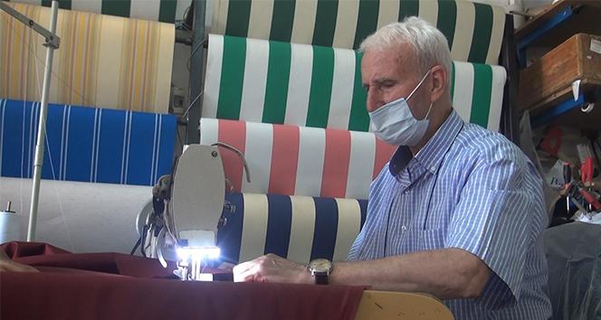76 yaşında koronayı yendi, işinin başına döndü