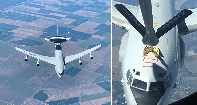 MSB: 'NATO' uçağına, Hava Kuvvetlerimize ait tanker uçağı tarafından Romanya üzerinde ikmal yapıldı'