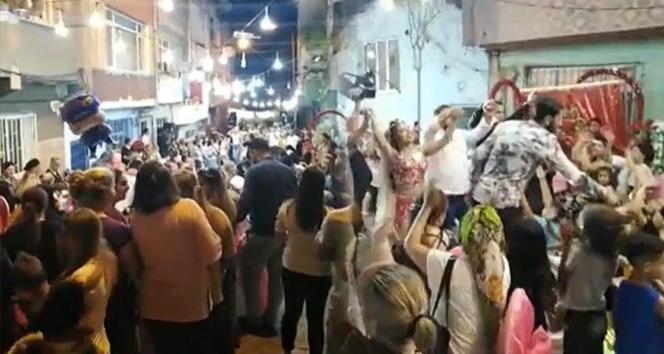 İstanbul'da düğün eğlencesinde 'pes' dedirten görüntüler