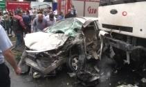 Bağcılar'da korkunç kaza