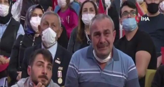 15 Temmuz Gazisi o görüntüleri izleyince gözyaşlarına boğuldu