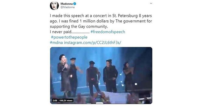 Rusya'dan Madonna'ya 1 milyon dolarlık ceza