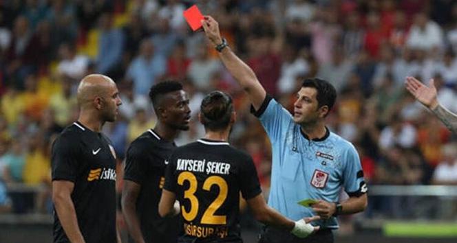 Kayserispor 8 kırmızı kart gördü