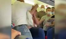 Uçakta maske takmayan 2 yolcu darp edildi