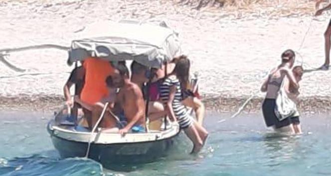 Facia geliyorum demiş: 4 kişilik tekneye 9 yolcu almış