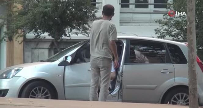 Taksim'de İHA'nın görüntülediği değnekçilik yapan şahıs yakalandı
