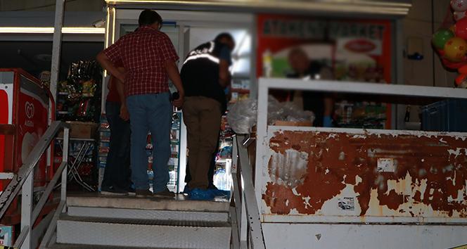 Adana'da yüzü maskeli iki kişi bakkal dükkanına girerek iş yeri sahibini vurup soygun yaptı