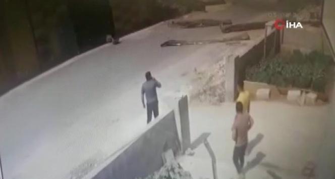 Gaziantep'teki patlamanın şiddeti güvenlik kamerasına yansıdı