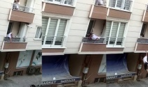 Kavga ettiği adama balkondan tencere atarken aşağıya düştü