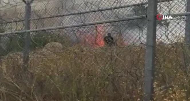 Sınırda yangın alarmı, alevlerin Türkiye'ye sıçramasına 5 metre kaldı