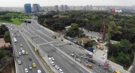 İstanbul Valiliğinden çöken üst geçide ilişkin açıklama